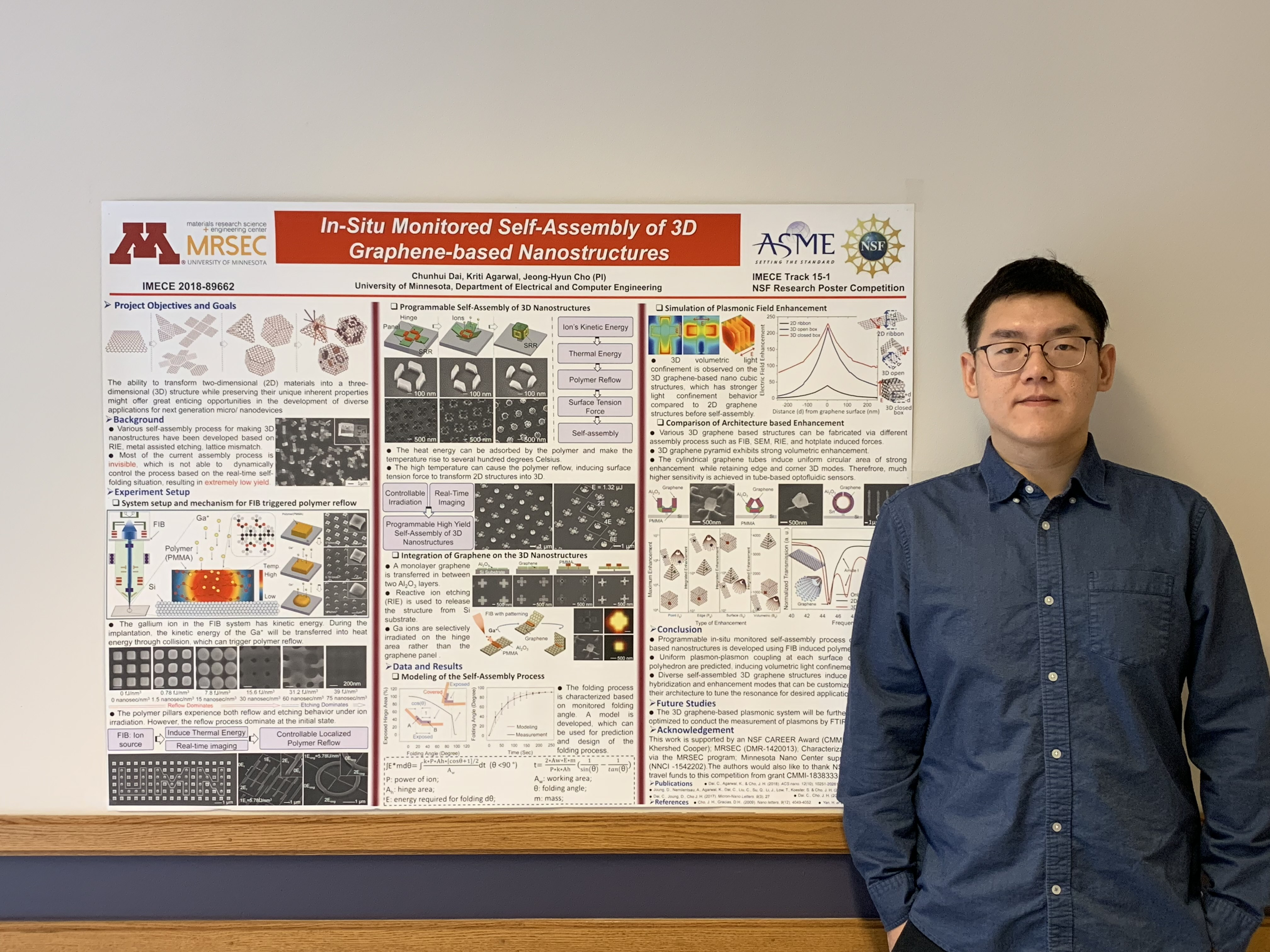 Chunhui Dai (MRSEC Seed ECE) wins 1st Place prize for best poster