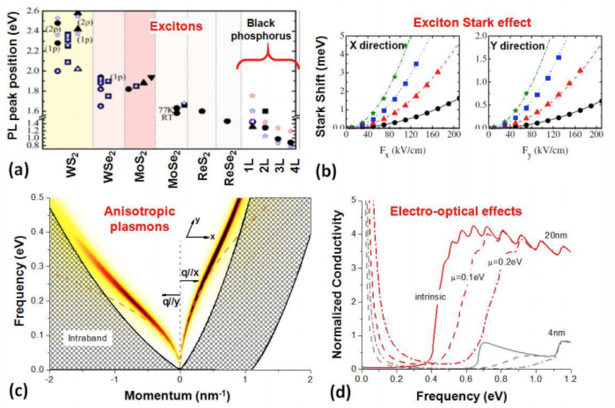 Mechanisms of light-matter interactions in few layers to monolayer black phosphorus (BP)